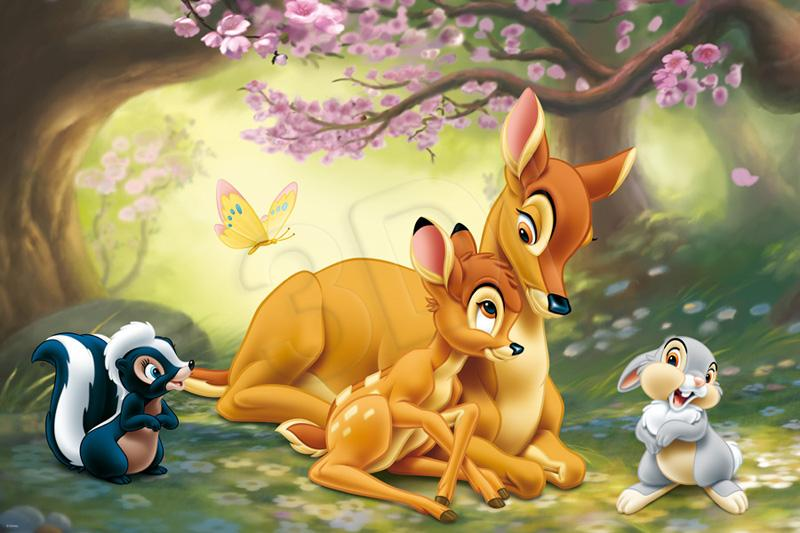 trefl puzzle bambi - slika