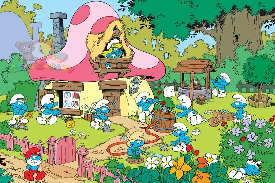 trefl puzzle strumfovi - slika