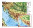 Zemljopisna karta (zemljovid) Hrvatske
